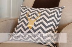 Southern Revivals: Christmas Reindeer Silhouette Chevron Pillow Cover Tutorial with Tulip Shimmer Sheets