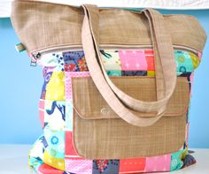 Caravan Tote by Noodlehead featuring Cotton and Steel fabric equals instant love!!