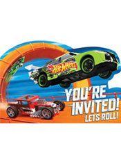 Hot Wheels Invitations 8ct  Party City