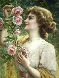 Приятно, видеть женщину с цветами,когда глаза сияют нежной добротой...  Emile Vernon. Обсуждение на LiveInternet - Российский Сервис Онлайн-Дневников