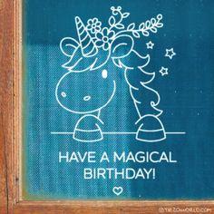 Have a magical birthday! Met deze magische eenhoorn verjaardag #raamtekening gaat dat zeker goed komen. Chalk Pens, Chalk Markers, Chalk Art, Unicorn Birthday, Unicorn Party, Birthday Fun, Birthday Chalkboard, Chalkboard Art, Drawing For Kids