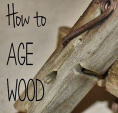 Art Tutorial - How to Age Wood Fast - cheap and easy to do - comes in handy for so many woodworking projects . I found website about #woodworking here: http://ewoodworkingprojects.com/ .