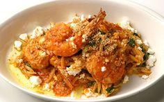 Κριθαρότο με γαρίδες και μανιτάρια One Pot Dishes, Greek Dishes, Main Dishes, Shrimp Orzo, Greek Shrimp, Risotto Rice, Pasta Noodles, Seafood Dishes