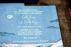 Night Sky Letterpress Wedding Invitations by Shipwright & Co. / Oh So Beautiful Paper