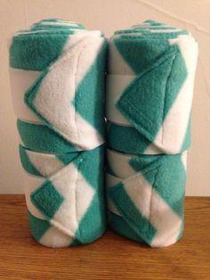 Turquoise Chevron Polo Wraps