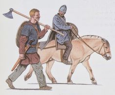 """Gange Rolv / Rollo's nickname """"the Walker"""" (""""Ganger"""" in Norse), came from being so big that no horse could carry him."""