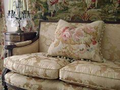 love the upholstery and the cushion - beautiful