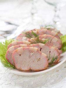 Pečená vepřová kotleta plněná nivou a uzeným špekem Meat, Vegetables, Food, Vegetable Recipes, Eten, Veggie Food, Meals, Veggies, Diet