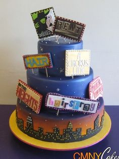 Broadway Billboards Wedding Cake i love this cake. not really wedding ish thouhg
