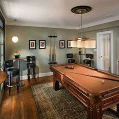 Billiard Room Decor With Grey Walls , Cool Billiard Room Decor In Interior & Decor Category
