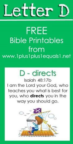 Free Bible Verse Printables ~ Letter D is for Directs, Isaiah 48:17