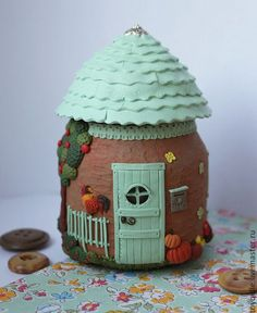 Polymer clay jar house - amazing details!!