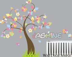 Tree Wall Decal - Vinyl Wall Decal - Children Tree Wall Decal With Name