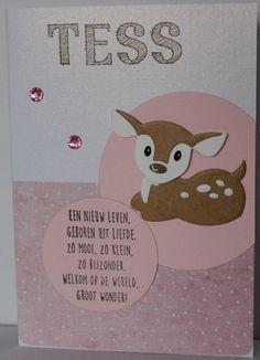 Gemaakt door Joke # Babykaart - Tess geboren