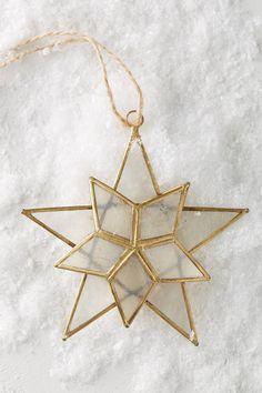 Anthropologie Capiz Star Ornament