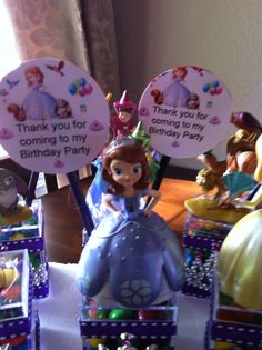 Disney Sofia the first favors.