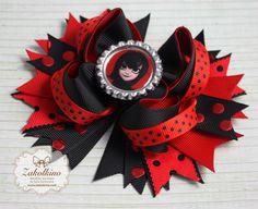 Mavis Hair bow  Black Red Hair bow  Hotel by ZakolkinoCom on Etsy