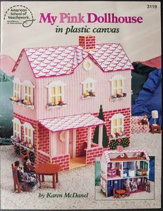 My Pink Dollhouse Plastic Canvas Pattern Book-published By Asn -designer Karen…
