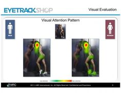 """Eyetracking : """"Notice how the men are not looking at the shoes at all."""""""