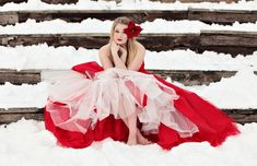 I SOOOO want to shoot in the snow with one of my tulle dresses I've made!