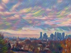London from Greenwich Daffodils, Countryside, Artsy, London, Sunset, Painting, Painting Art, Paintings, Sunsets