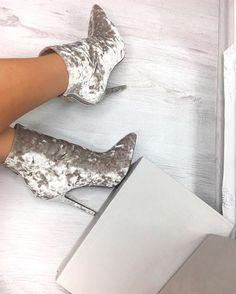 Velvet Grey Boots