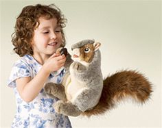 Who do you know who needs a squirrel puppet? Who DON'T you know that needs a squirrel puppet? Get yours today at stuffedsafari.com