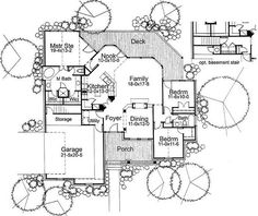Cottage Craftsman House Plan 65802 Level One