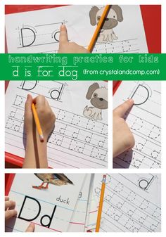 Cute, free printable handwriting page.