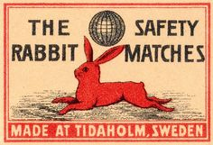 The Rabbit safety matches (Sweden)