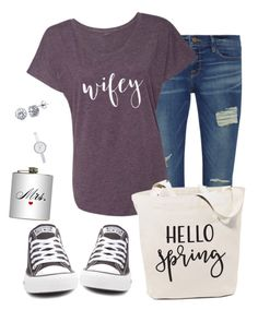 """""""Happy Wife, Happy Life"""" by darbie73 on Polyvore featuring Frame, Converse, Dot & Bo, DKNY and BERRICLE"""