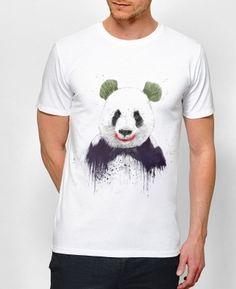 T-shirt Homme Joker Blanc by Balàzs Solti