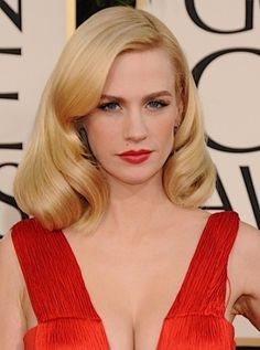 Vintage-esque, January Joned from Mad Men red carpet glamour look. Bridal makeup looks
