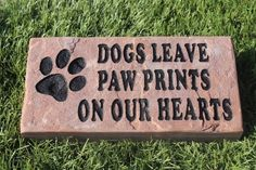 Sandblast Engraved Red Stone Pet Memorial Headstone Grave Marker Dog Paw 3x6 *** Want additional info? Click on the image. (This is an affiliate link and I receive a commission for the sales)