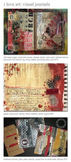 Michelle Ward art journal pages http://michelleward.typepad.com/how_cool_is_that/2011/06/crusade-no-52-seasonal-wardrobe.html