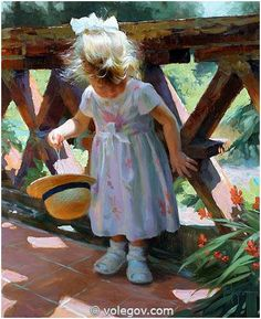 "Vladimir Volegov ""Under the sun"", oil on canvas, 73x60 cm; 2008 #volegov #art…"