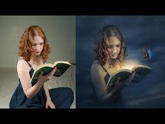 Photoshop CC Tutorial - Change Background Fantasy Photo Effect Editing - YouTube