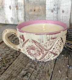 Lavender Soy Candle, Rustic Rose