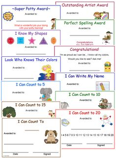 Learning certificates added to 1 - 2 - 3 Learn Curriculum web site. A preschool curriculum members web site… Preschool Assessment, Preschool Lesson Plans, Preschool Printables, Preschool Classroom, Preschool Learning, Preschool Activities, Vocabulary Activities, Preschool Readiness, Classroom Rewards