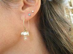 Holiday Sale November Birthstone Earrings Rough by AnnalisJewelry