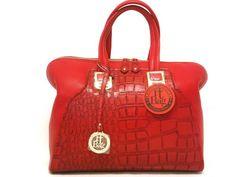 "Red Textured ""IT BAG"" - Dos'Staggio Boutique---dosstaggio.aradium.com"