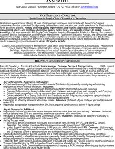 vice president vp or director of operations supply chain logistics resume