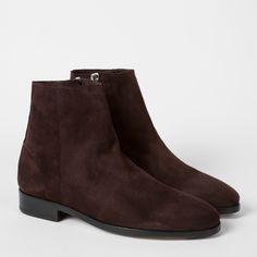 Paul Smith Women's Dark Damson Suede 'Brooklyn' Boots