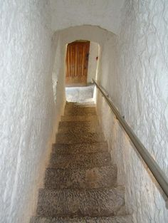 One of the staircases, Cahir Castle, County Tipperary, Ireland.