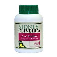 A-z mulher - multivitamínico e multimineral 500mg - sidney oliveira 50 cápsulas por R$9,99