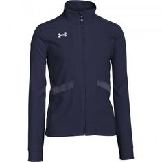 - Loose: Generous, more relaxed fit - Durable knit fabric with a smooth face & a soft inner to trap warmth - UA Storm gear uses a DWR finish to repel water without sacrificing breathability - Satin hi Soccer Shop, Smooth Face, Under Armour Girls, Girls Leggings, Athletic Outfits, Short Girls, Adidas Jacket, Kicks, Jackets