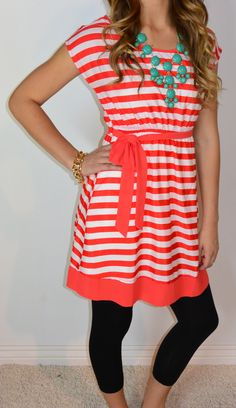 Striped Boat Dress | SexyModest Boutique aaaand it's on sale now and in my size. $14.99 for large ;D