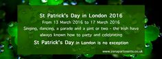 Book ZEN Apartments to enjoy St Patric's Parade Book For 5 Days & You can SAVE UP TO 10% + Free Wifi for all bookings at our Serviced Apartments Canary Wharf, Discovery Dock, Meridian Place, Excel and 02 Arena between 1st March '16 and 5th of April '16!  For more information or to book your apartment call our reservation team on +44 (0) 788 737 8873 or +44 (0) 799 001 0099