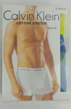 27f49f0147ef Calvin Klein 3 Pack Trunks Classic Fit Cotton Stretch Size M #CalvinKlein  #Trunks Men's
