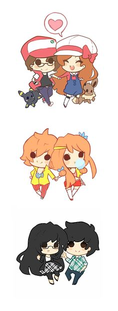 Mini Chibi Couples by ~xephia on deviantART